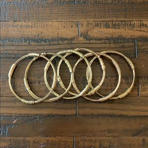 Set of gold bangles